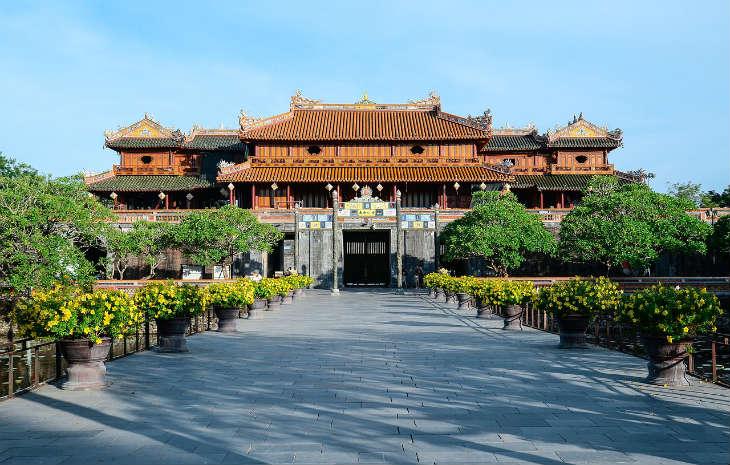 Imperial citadel in Hue city